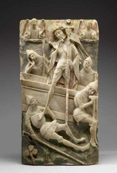 Resurrection; alabaster carving, English, 15th century. (Walters Art Museum, Baltimore, Maryland)