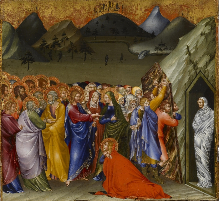 Giovanni di Paolo, 1426: Resurrection of Lazarus (Walters Art Museum, Baltimore)