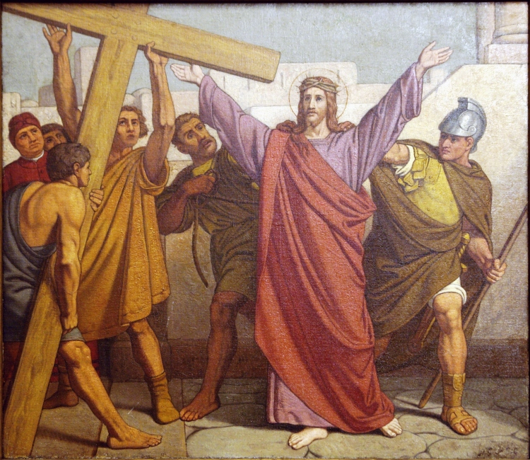 2nd Station: Jesus is given his cross. (Church of St. Jean Baptiste au Beguinage, Brussels)