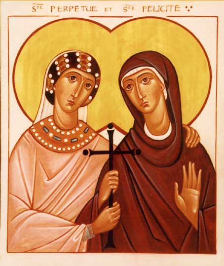 Perpetua and Felicity were catechumens preparing for baptism when they were martyred with three others. She is said to have authored a memoir of their many tribulations in prison, and of holy visions she received. (Brotherhood of the Holy Trinity)
