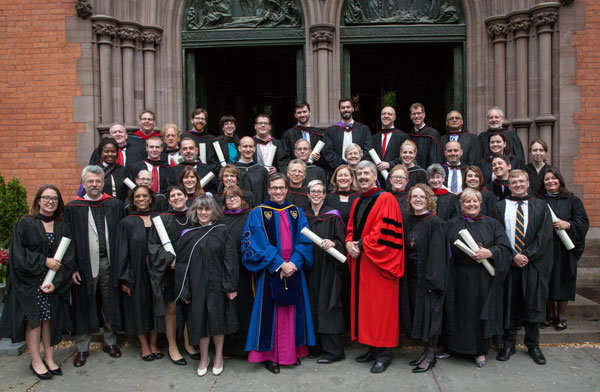 Commencement at the General Theological Seminary, New York, 15 May; 46 of the servants of Christ were awarded degrees, certificates or diplomas.