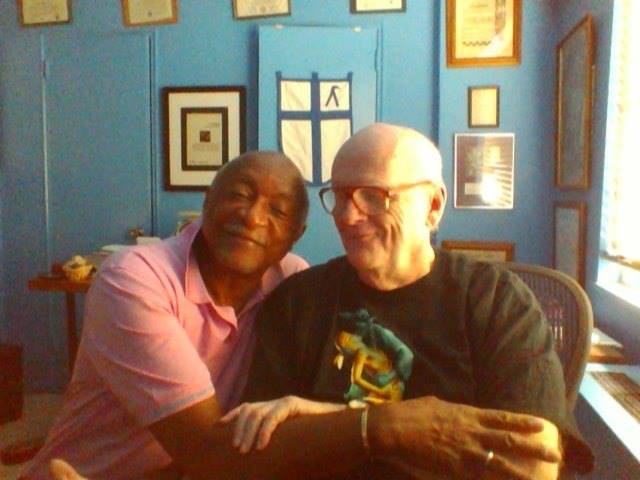 """Ernest Clay & Louie Crew, 26 June 2013. Someday, on a website far away, a compulsively correct functionary will type, """"Laymen & Prophets, First Openly-Gay Couple in the Episcopal Church."""" (Faecebook)"""