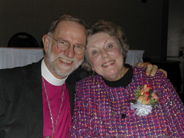 A little remembrance of Bill and Carole Smalley; he's the retired bishop of Kansas, now serving Trinity Church, Anderson, Indiana. (parish website)