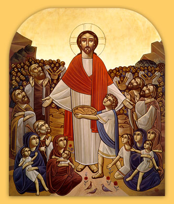 Coptic, maker unknown: Christ Feeding the Multitude