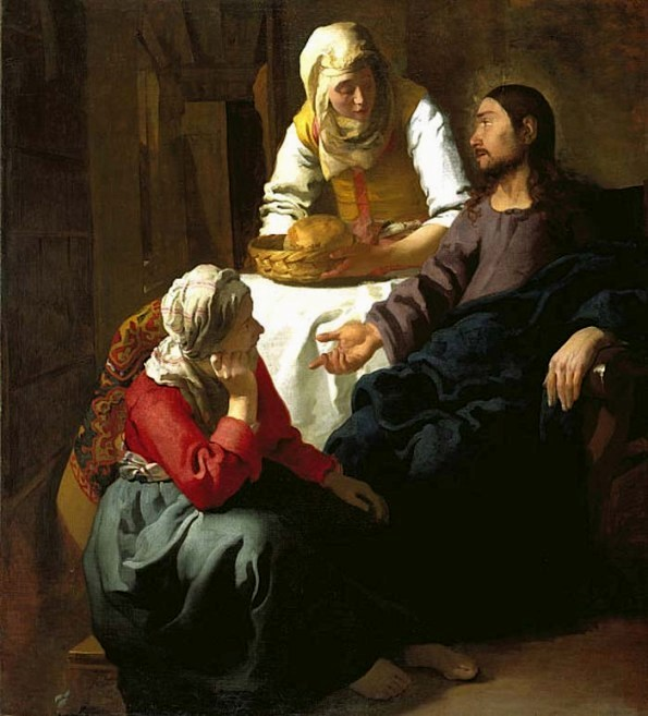 Jan Vermeer, 1654: Christ in the House of Martha and Mary