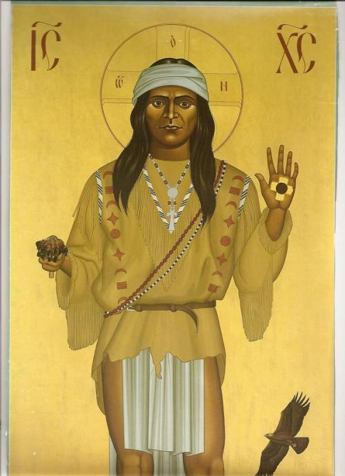 American Indian Christ; artist unknown