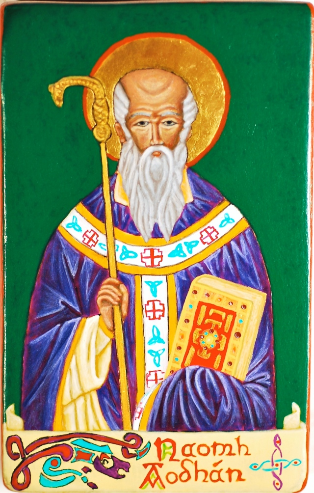 31 August is normally St. Aidan's Day, but his observance is pre-empted by Sunday - which doesn't prevent us from an informal mention. Aidan was head of a mission from St. Columba's monastery at Iona to Northumbria when King Oswald succeeded his brother in 633 and sought to teach his people about Jesus Christ. Bede tells us the gentle monk delighted in distributing wordly gifts from rich people to the poor, and traveled about on foot, inviting the pagans to embrace the mystery of the Christian faith, and strengthening believers to alms and good works. (Br. Kenneth Hosley, OPC)