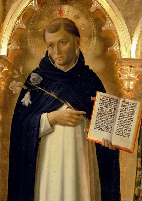 Fra Angelico, 1437, The Perugia Altarpiece: St. Dominic. His Order of Preachers made intellect central to the understanding of God and teaching a central feature of every sermon.