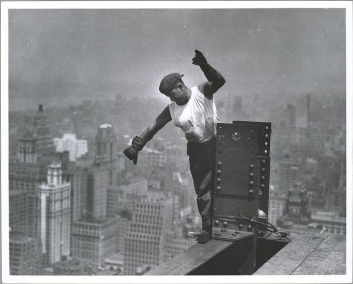 Iconic photo of the construction of the Empire State Building, New York, 1931: everything we enjoy comes from labor. (Lewis Wickes Hine/New York Public Library)