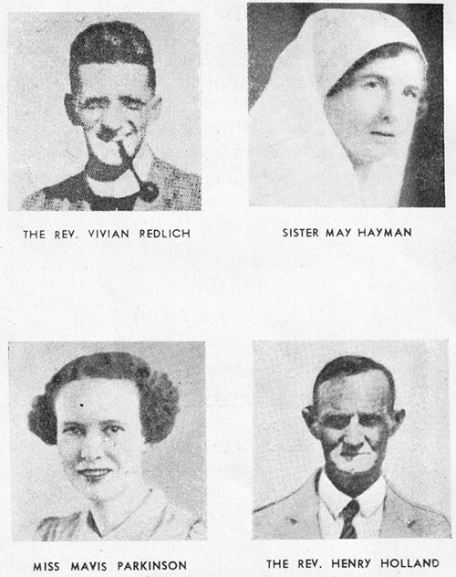 Four of the 8 Anglican martyrs we commemorate today - clergy, nurses, evangelists and teachers. Another 325 missionaries of other denominations were killed during the Japanese invasion. (anglicanhistory.org)