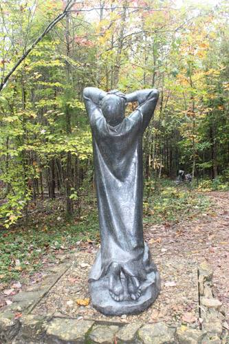 Agony of Christ statue at Gethsemani Abbey, Kentucky. (Letha Tomes Drury)