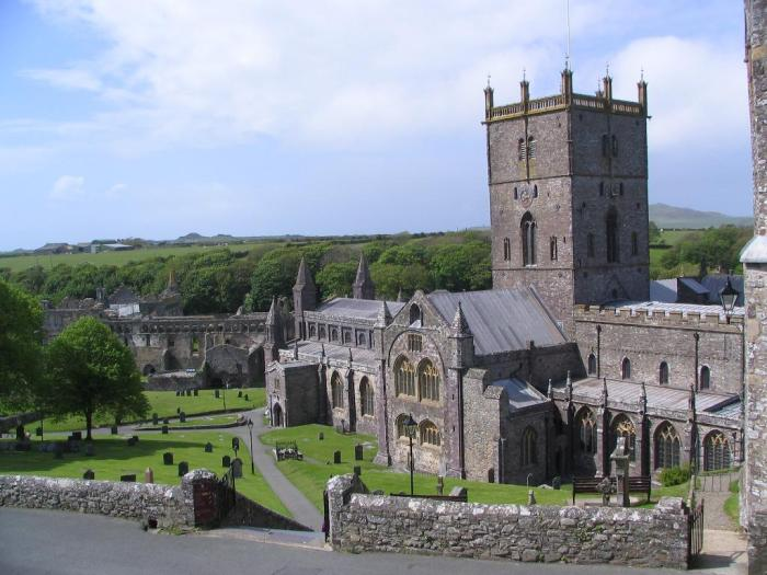 St. David's Cathedral, in the town of St. Davids in Pembrokeshire, Wales, one of the great historic shrines in Christendom. (Bill Damick/castlewales.com)