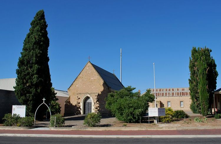 Cathedral of St. John the Baptist, Murray Bridge, Australia. Built in 1887, this Anglo-Catholic parish seats 130 and may be the smallest cathedral in the world. (Wikipedia)
