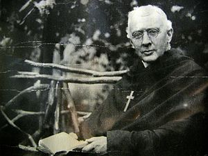 James Huntington was an American mission priest who received a call to the religious life during a church service in Philadelphia in 1883. He established the Order of the Holy Cross among poor immigrants in New York, and through many difficulties his little band of men survived to build a retreat house on the Hudson River near Poughkeepsie, across from President Franklin Roosevelt's Hyde Park. (source unknown)