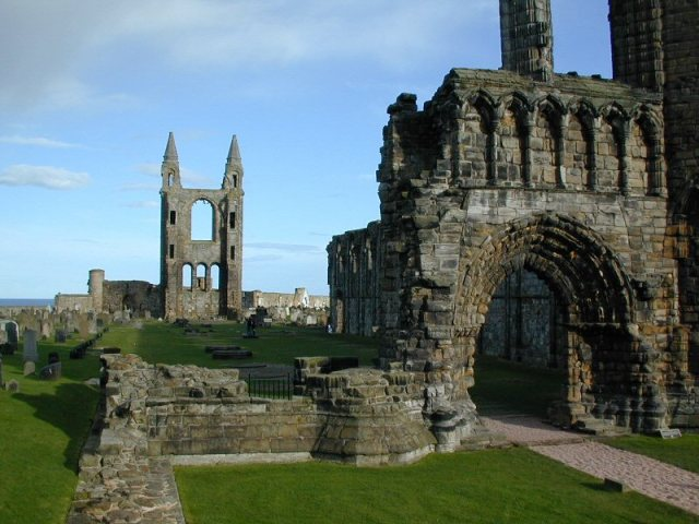 Ruins of St. Andrew's Cathedral, Fife, Scotland.