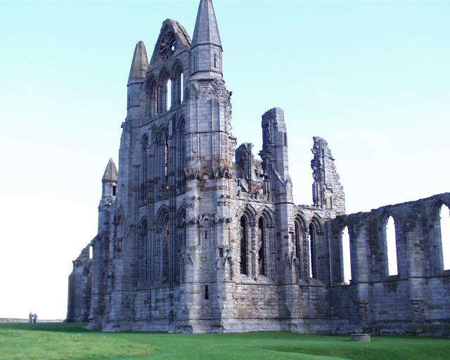 The ruins of St. Hilda's Abbey at Whirby; people still make pilgrimage there, seeking the spirit and wisdom imparted by the beloved abbess. (source unknown)