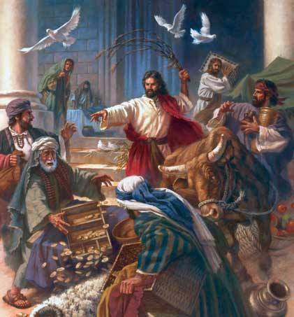 Jesus clears the Temple. (gisellaeaguilar.com)