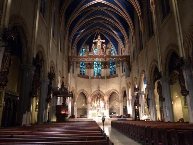 The famously high Church of St. Mary the Virgin, New York City, taken after the smoke had sufficiently cleared. (The Rev. Richard Edward Helmer)