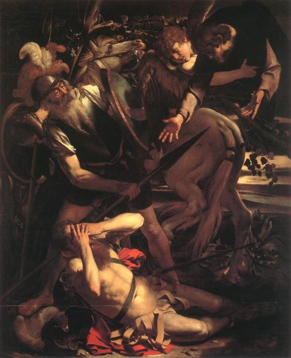 Caravaggio: Conversion of St. Paul on the Road to Damascus. This experience was very dramatic for him, with instant results like few people go through. It may be useful for us to reflect on our need for ongoing conversion.