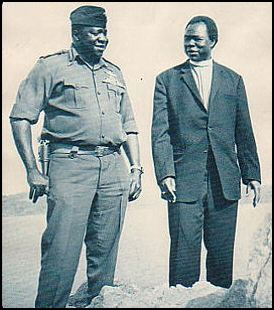Archbishop Luwum with the infamous Ugandan dictator Idi Amin, who had him gunned down for protesting government-sanctioned rape and murder. Uganda is the most Christian country in Africa, and Anglican archbishops are influential public figures valued by the government as long as they don't cause trouble. Luwum told the truth about Amin, so the dictator eliminated him.