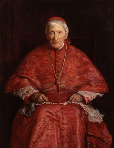 John Everett Millais, 1881: John Henry Newman. He was born into the evangelical Anglican tradition, fell in love with the Early Church Fathers, and wrote his famous Tract 90 in an attempt to reconcile Roman Catholicism with the 39 Articles. The result was a national uproar. But he was so convinced by his own argument he became a Roman Catholic himself.
