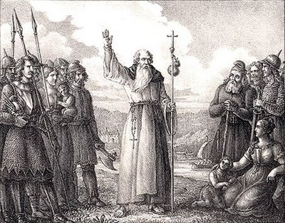 "Anskar received two visions from God telling him to ""Go and declare the work of God to the nations,"" but his monastic brothers in Germany thought he was crazy for wanting to go and evangelize the barbarous Vikings of Denmark and Sweden. He tried his best, but the results were meager, two churches, a school and one priest. A century later, however, times changed, and people remembered his efforts."
