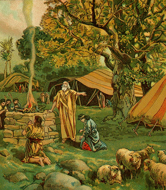 Unknown artist: Abraham Worships at the Oak of Mamre