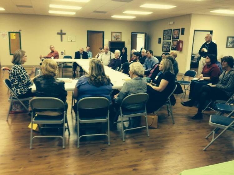 Adult Sunday School class last week at Church of the Holy Spirit, Alabaster, Alabama. (Malcolm Marler)