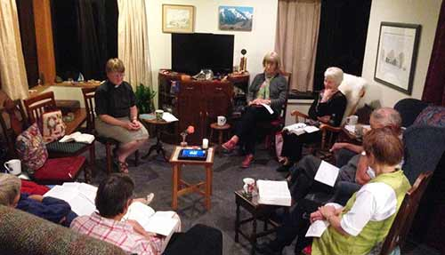 A Lenten prayer and study group meets in person and by Skype in Malvern Parish, New Zealand, much like our Western blog webcasts Morning Prayer five days a week in North America. Malvern Parish consists of churches in five nearby villages. (The Rev. Bosco Peters via Facebook)