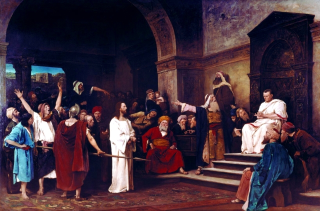 Mihaly Munkacsy, 1881: Christ Before Pilate (Deri Museum, Debrecen, Hungary)