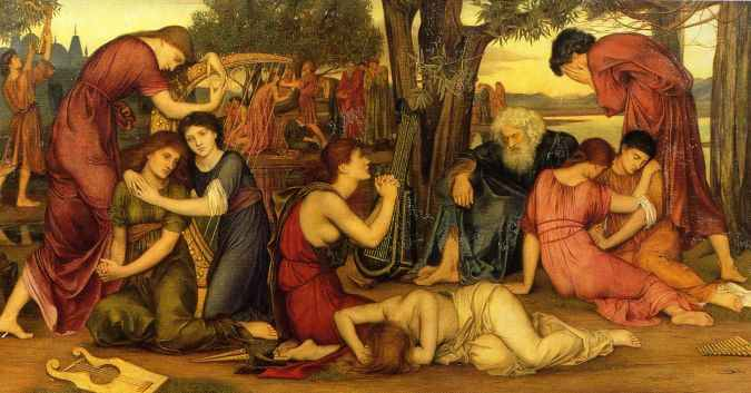 Evelyn de Morgan, 1883: Exile: By the Waters of Babylon