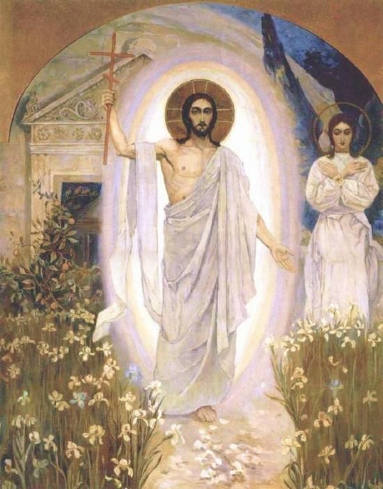 Risen Christ among the Lilies (artist unknown)