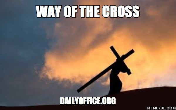We are following the Biblical Stations of the Cross as defined by Pope John Paul II in 1991.