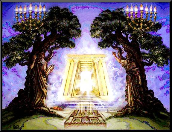 Zechariah's vision of a lampstand and two olive trees. (yeshuatyisrael.com)