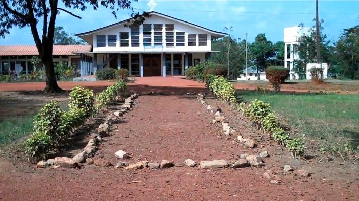 The chapel at Cuttington University in Liberia, founded by Bishop Ferguson. The campus was all but destroyed during the civil war ten years ago, but it is gradually coming back. (Diocese of Southern Ohio blog)
