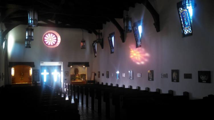 St. Clement's-by-the-Sea, San Clemente, California, just before Morning Prayer recently. (via Katrina Soto)