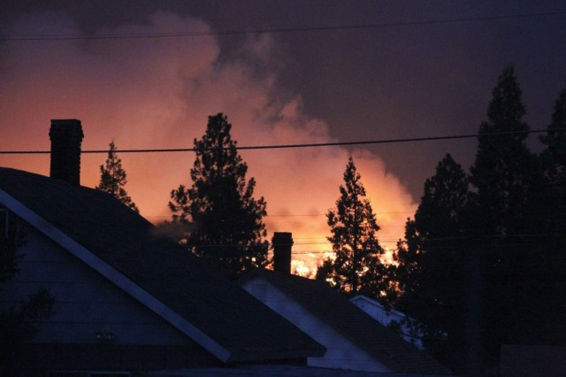 We ask your prayers for residents and firefighters in northern California, where the Boles Fire, near the town of Weed, was raging earlier this week. Forest fires are common in California - some set by arsonists, others by lightning - but conditions are made much worse by an ongoing, terrible drought. (Greg Barnette/Record-Searchlight)