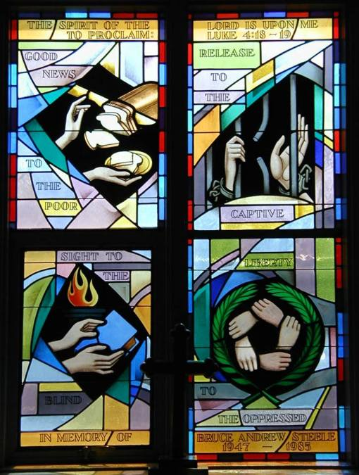 Jubilee Window at St. Mark's, Lewistown, Pennsylvania. (parish photo)