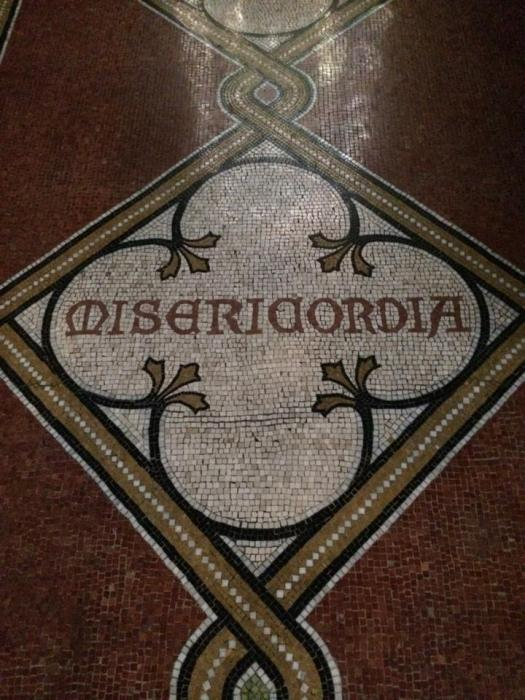 A reminder of the virtue of Mercy, in the Chapel of the Good Shepherd, General Theological Seminary, New York.