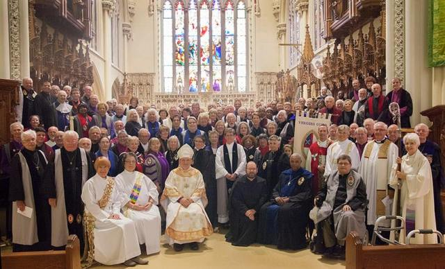 The Vergers Guild of the Episcopal Church held its annual meeting last weekend at St. Luke's, Burlington, Ontario, Canada, including visits to other churches on Sunday. (Vergers on Facebook)