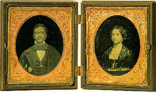 "Despite their high status, Kamehameha and Emma knew plenty of sorrow, deriving first from Captain Cook's ""discovery"" of the long-inhabited islands, and the competing interests of businessmen to exploit the people and missionaries to convert them; often they were the same group. The native people were losing control of their culture, and succumbing to disease introduced by foreigners. The king and queen lost their only child at age 4, and the king died heartbroken a year later. Emma declined to rule in his place, and instead devoted herself to building schools, hospitals and churches, including St. Andrew's Cathedral in Honolulu. In later years when another royal vacancy occurred, she ran for election to resume the position, but lost the vote. Yet she is remembered today with great love; everywhere you turn there is a festival, park, concert or sporting event dedicated to her memory. (Wikipedia)"