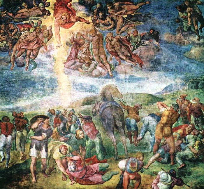 Michelangelo, 1542: Conversion of St. Paul