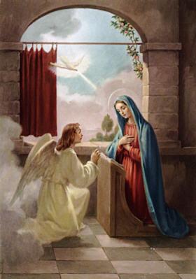 Annunciation; artist unknown