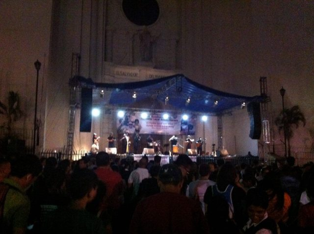 An all-night vigil last year at San Salvador Cathedral on the eve of the anniversary of Archbishop Romero's murder. Pope Francis recently approved the title of martyr for Romero, a status that was blocked for many years by the previous pope.