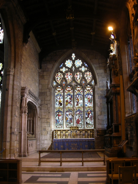 Shrewsbury Chapel in Sheffield Cathedral, England. Chapels are nice accomodations for smaller congregations in big churches. (Wikipedia)