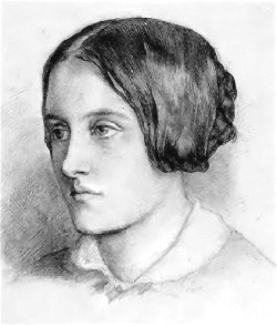 A drawing of his sister Christina by Dante Gabriel Rossetti, who often used her as a model. The Rossettis were an artistic family;