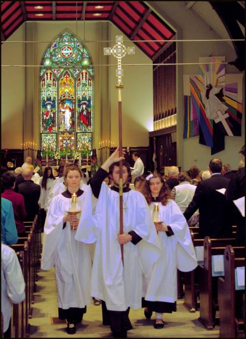 Easter Day recessional last year at St. George's, London, Ontario. (Evan A)