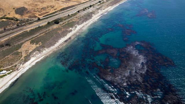 Oil spill off Santa Barbara, California. (Brian van der Brug/Los Angeles Times)