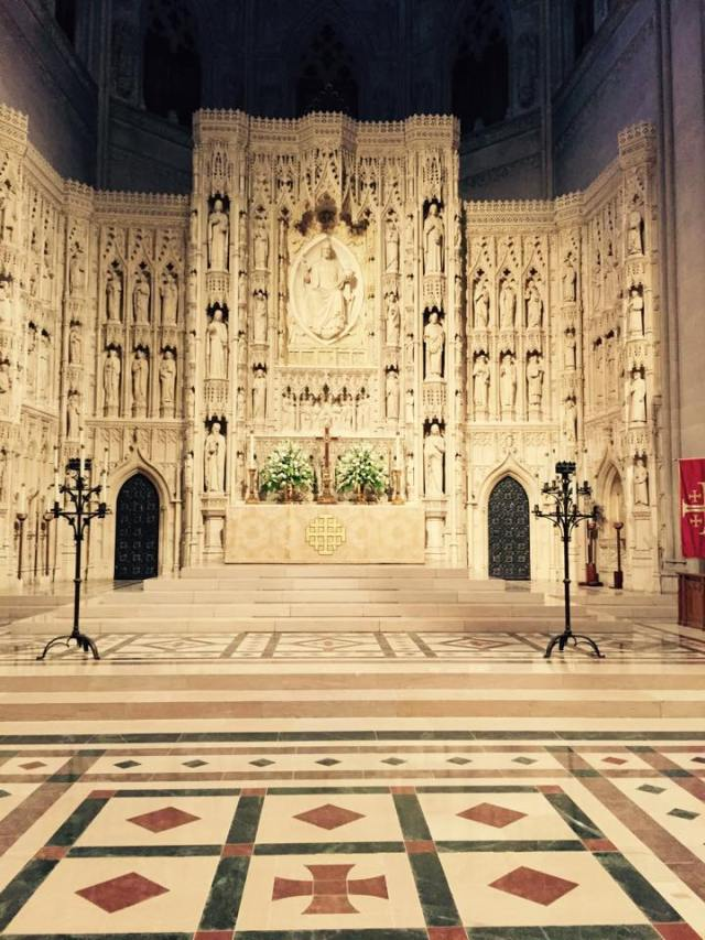 The High Altar at Washington National Cathedral, taken yesterday by Daniel Pigg.