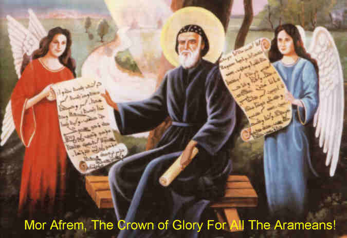 St. Ephrem wrote hymns and theological materials in Christ's own language. Forms of it are still spoken today by ethnic Assyrians, and Judeo-Aramaic is still spoken by a few people in the state of Israel.